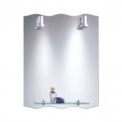 Espelho de casa de Banho com Focos Balear Onda 60x75 cm