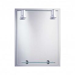 Espelho de casa de Banho com Focos Balear Quadro 60x75 cm