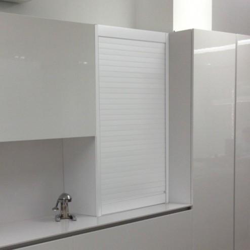 Kit para armário persiana cozinha alumínio branco