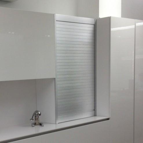 Kit para armário persiana cozinha alumínio inox
