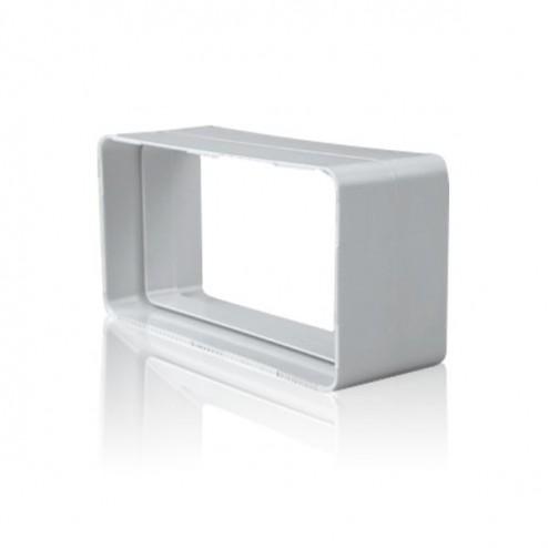 Junção retangular liso 90x180mm