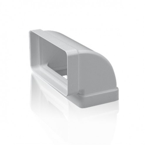 Cotovelo retangular vertical 90º 90x180 mm