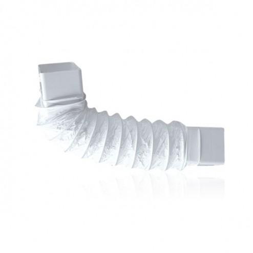 Cotovelo retangular flexível 90x180mm Longo 500mm