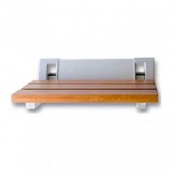 Assento de Duche Dobrável Alumínio Teca