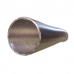 Tubo Redondo em Alumínio Flexível, Diâmetro 100 mm