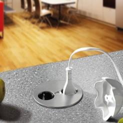 Módulo de 2 tomadas compacto para cozinha