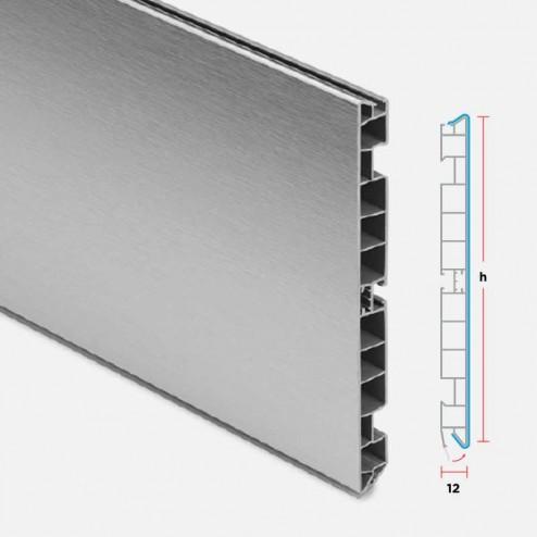 Rodapé PVC Alumínio Escovado Cozinha
