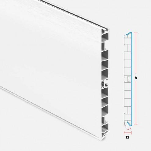 Rodapé PVC Alumínio Branco Cozinha
