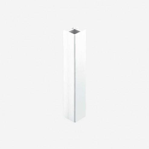 União Ângulo 90º Alumínio Branco Rodapé PVC Cozinha