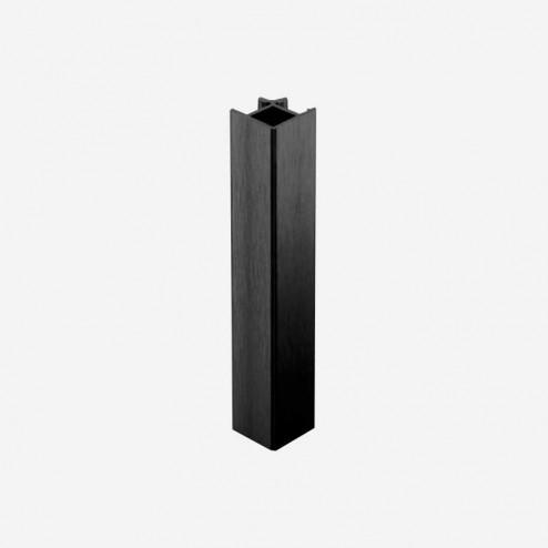União Ângulo 90º Alumínio Preto Rodapé PVC Cozinha