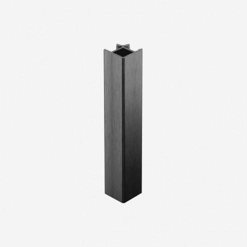 União Ângulo 90º Alumínio Antracite Rodapé PVC Cozinha