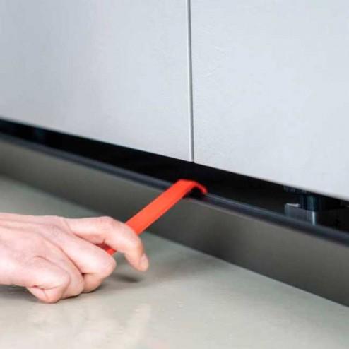 Alavanca Extração Braçadeira Magnética Rodapé PVC