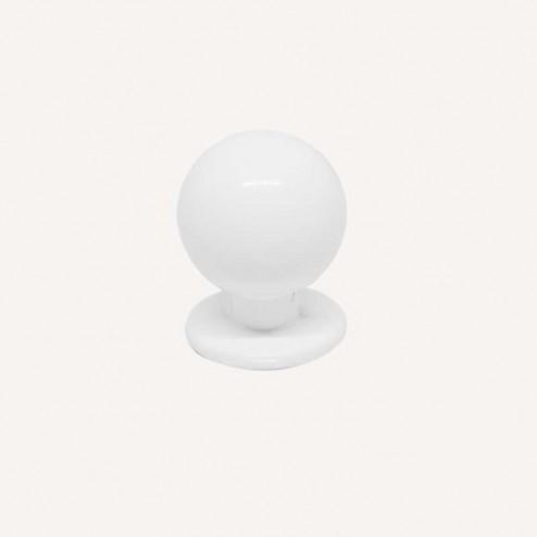 Maçaneta Metálica Branco Fosco 3441