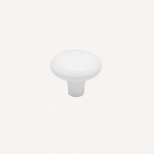 Maçaneta Metálica Branco Fosco 3458