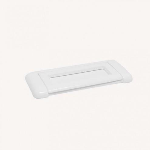 Puxador Metálico Branco Mate, 2270