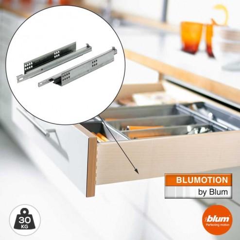 Corrediças 30 kg Blum Tandem com Freio Blumotion Extração Total