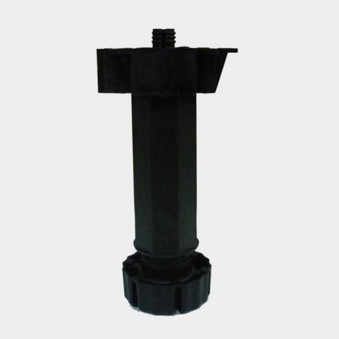 Perna cozinha regulável negra módulo-móvel (4 Unidades)