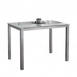 Mesa Cozinha Fixa de Vidro 73x105x60 cm