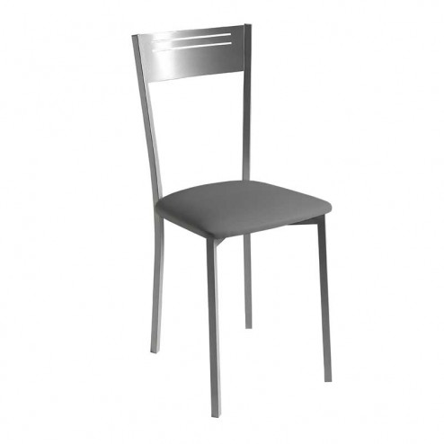 Cadeira de Cozinha Estofado Polipele e Chassis Cromado Mate 7951