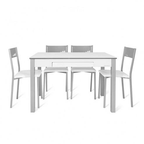 Mesa de Cozinha Secret + 4 Cadeiras Chip