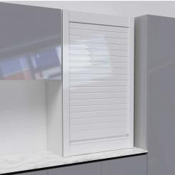 Kit Para Móveis Persiana Cozinha Vidro Branco Brilho