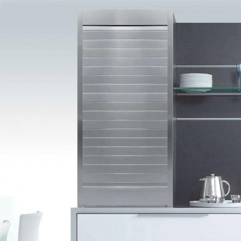 Kit para armário persiana cozinha alumínio acetinado natural