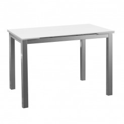 Mesa Cozinha-sala de Jantar-Vidro Asas Extensíveis 76x120~180x80 cm
