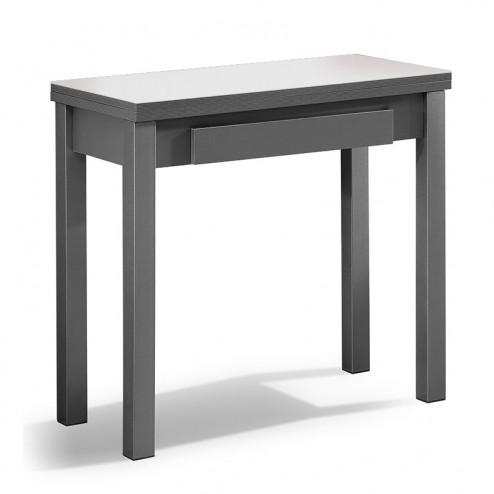 Mesa Cozinha Livro de Vidro e MFD + Gaveta
