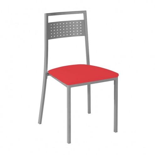 Cadeira de Cozinha Cromado Mate e Estofado Polipele 7938