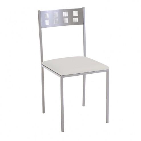 Cadeira de Cozinha Cromado Mate e Estofado Polipele 7933