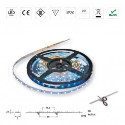 Rolo 5m Luzes 12V Led Strip
