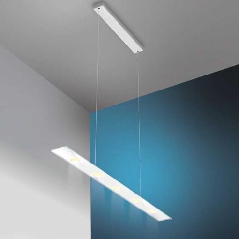 Lâmpada do diodo Emissor de luz Retangular Inox e Vidro Sun V2