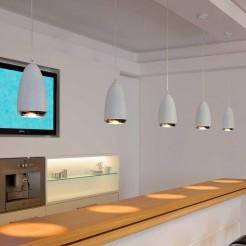 Lâmpada de Teto Decorativa Halógena GU10 75W Cromo e Branco Klauss