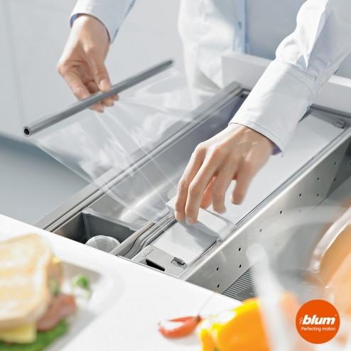 Cortador de papel em filme plástico de cozinha CAJON ORGALINE cozinha Blum