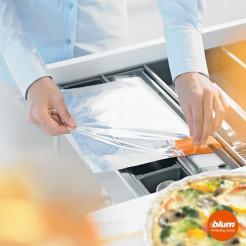 Cortador de papel alumínio de cozinha CAJON ORGALINE cozinha Blum