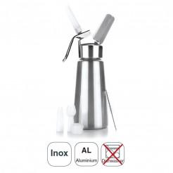 Sifão Creme Inox + Cabeçote Alumínio