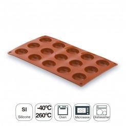 Molde Semi-Esférica 15 Cavidades Silicone Pastryflex