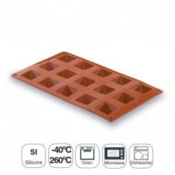 Molde Pirâmide 15 Cavidades Silicone Pastryflex