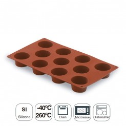 Molde Os Mini Muffin 11 Cavidades Silicone Pastryflex