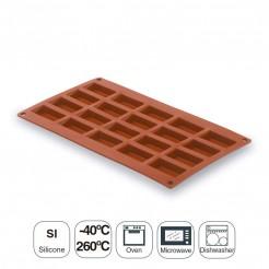 Molde Pequeno Retângulo De 20 Cavidades De Silicone Pastryflex