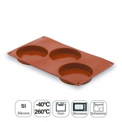Molde Base Cremosa 3 Cavidades Silicone Pastryflex