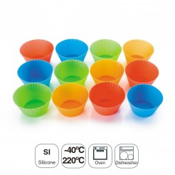 Set 12 Moldes Muffin Silicone