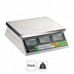 Balança 15 kg Eletrônica de Mesa com Base Inox Quadrada