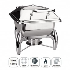 Chafing Dish Luxe Gastronorm Em Inox, 1/2