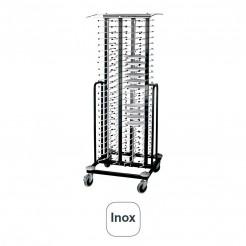 Caminhão Portaplatos Inox com Rodas para 100 Pratos
