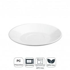 Prato Pequeno-almoço Policarbonato 18x2,5 cm