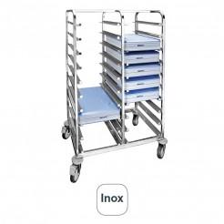 Caminhão Portabandejas Inox para 20 Unidades