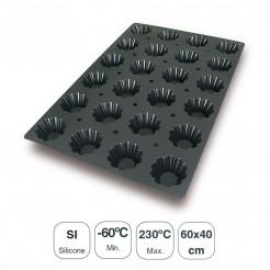 Molde Briochette 24 Cavidades Silicone Black