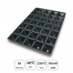 Molde Pirâmides 35 Cavidades Silicone Black