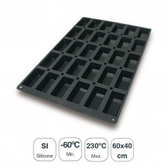 Molde Os Mini Cakes 30 Cavidades Silicone Black